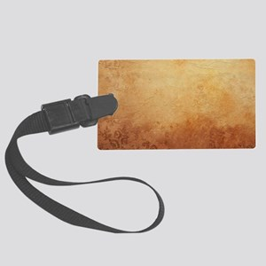 Antique Vintage Nostalgic Textur Large Luggage Tag