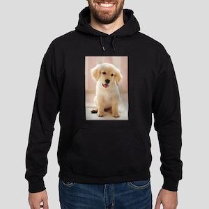 Golden Retriever Pup Hoodie (dark)
