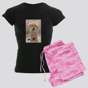 Golden Retriever Pup Women's Dark Pajamas