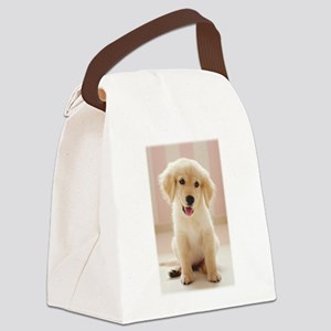Golden Retriever Pup Canvas Lunch Bag