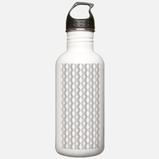 Shades of Grey Zig Zag Water Bottle