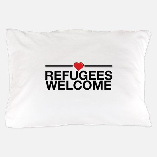 Refugees Welcome Pillow Case