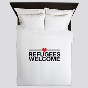 Refugees Welcome Queen Duvet