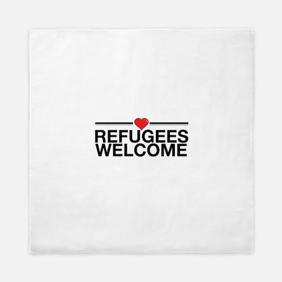Refugees Welcome Queen Duvet