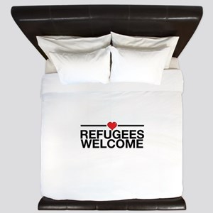 Refugees Welcome King Duvet