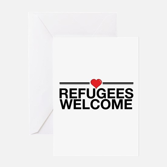 Refugees Welcome Greeting Cards