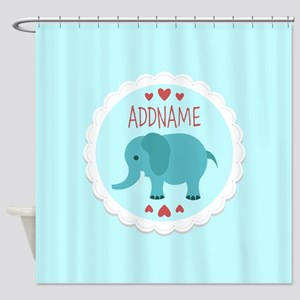 Personalized Name Elephant Baby Sho Shower Curtain