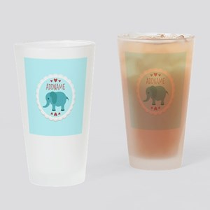 Personalized Name Elephant Baby Sho Drinking Glass
