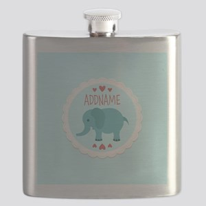 Personalized Name Elephant Baby Shower Flask