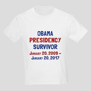 Obama Presidency Survivor Kids Light T-Shirt