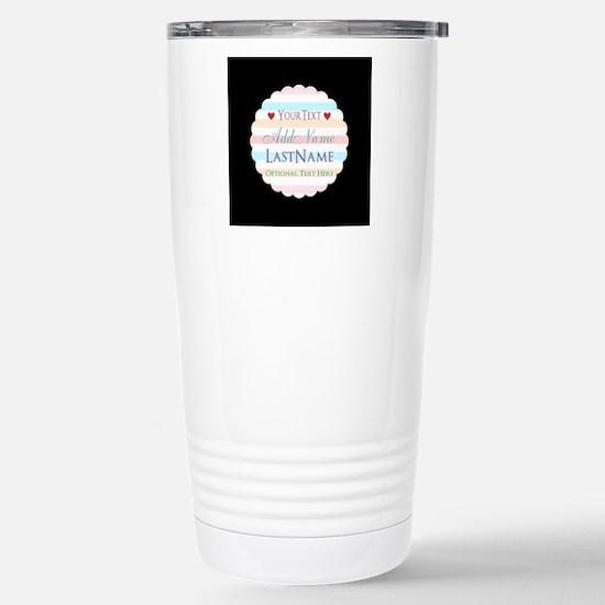 Girly Monogram Bright H Stainless Steel Travel Mug