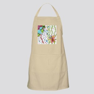 Underwater Seashells Flowers Kelp Bubbles Apron