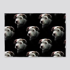 Pit Bull T-Bone Puppy 5'x7'Area Rug
