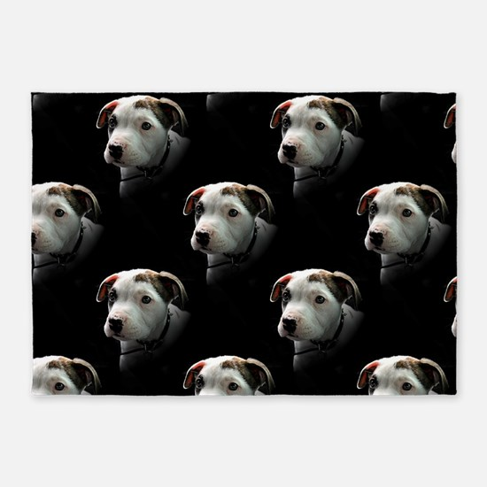Pit Bull T-Bone Puppy 5'x7'Area Rug