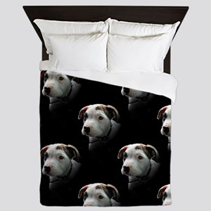 Pit Bull T-Bone Puppy Queen Duvet
