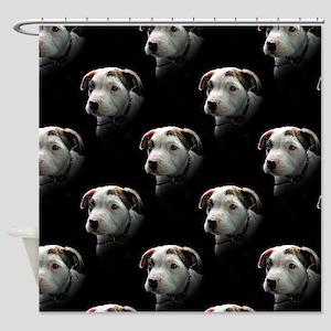 Pit Bull T-Bone Puppy Shower Curtain