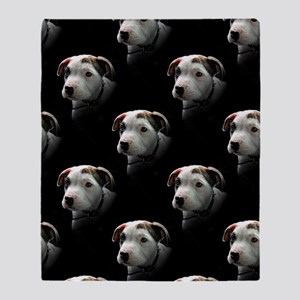 Pit Bull T-Bone Puppy Throw Blanket