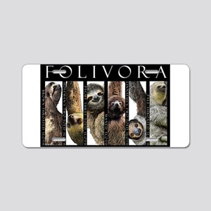 Sloths of the World Aluminum License Plate