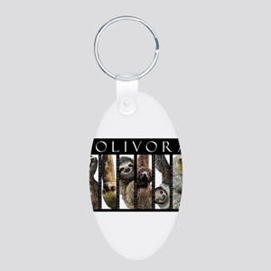 Sloths of the World Aluminum Oval Keychain
