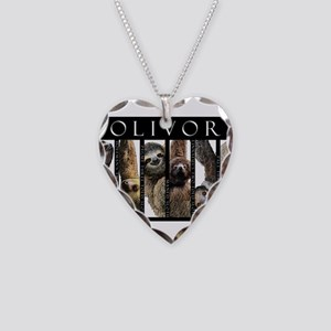 Sloths of the World Necklace Heart Charm
