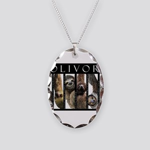 Sloths of the World Necklace Oval Charm