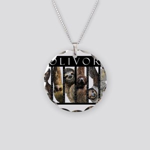 Sloths of the World Necklace Circle Charm