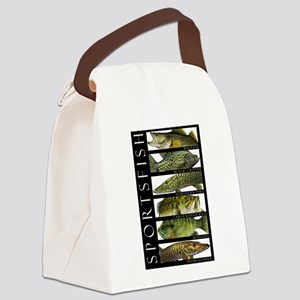 Sport Fish of North America Canvas Lunch Bag