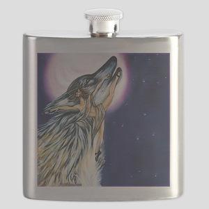 Wolf Woman Dances Flask