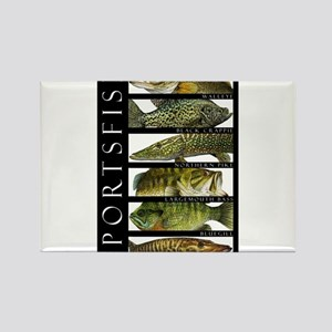 Sport Fish of North America Rectangle Magnet