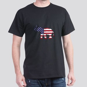 Elephant - American Flag T-Shirt