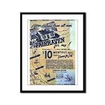 Vintage West Island Poster Framed Panel Print