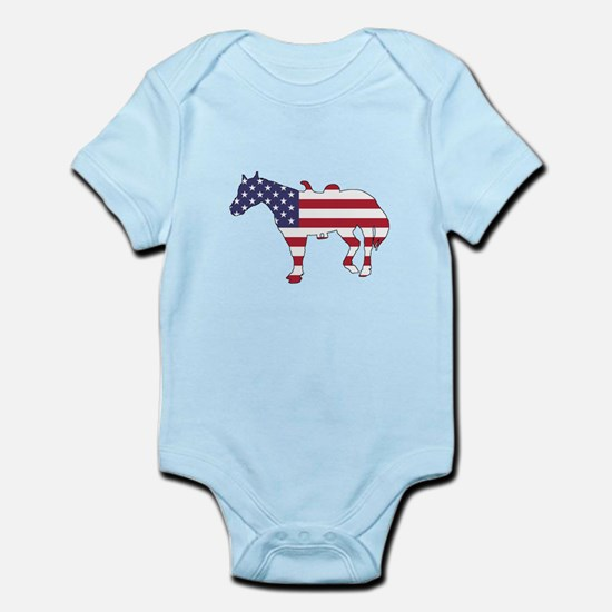 Horse - American Flag Body Suit