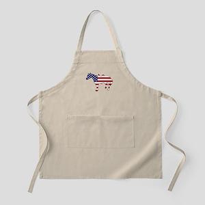 Horse - American Flag Apron
