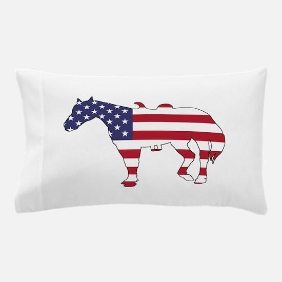 Horse - American Flag Pillow Case