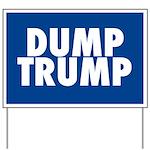 Blue Dump Trump Yard Sign