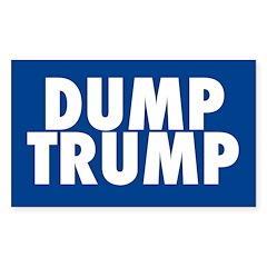 Blue Dump Trump Bumper Decal