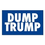 Blue Dump Trump Bumper Sticker