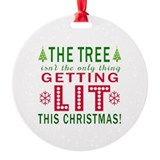 Funny christmas Round Ornament