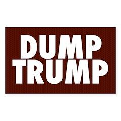 Dark Red Dump Trump Bumper Decal