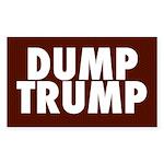 Dark Red Dump Trump Bumper Sticker