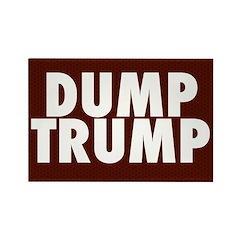 Dark Red Dump Trump Magnets