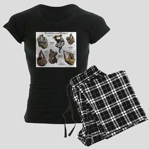 Sloths of the World Women's Dark Pajamas