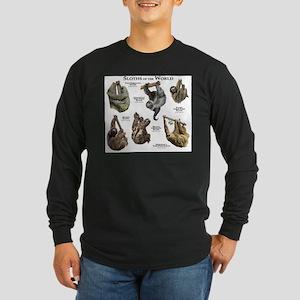 Sloths of the World Long Sleeve Dark T-Shirt