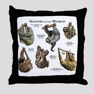 Sloths of the World Throw Pillow