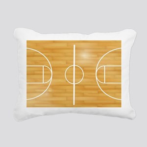 Basketball Court Rectangular Canvas Pillow