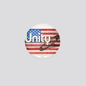 Safety Pin, Unity, American Flag Mini Button