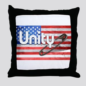 Safety Pin, Unity, American Flag Throw Pillow