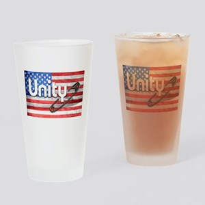 Safety Pin, Unity, American Flag Drinking Glass
