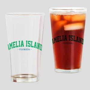 Amelia Island Florida Athletic Styl Drinking Glass