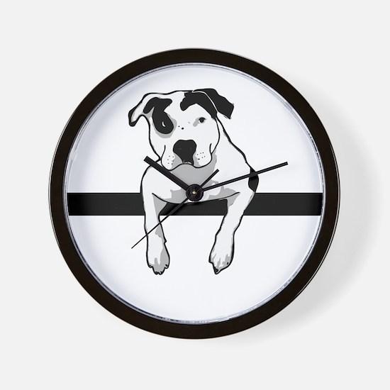 Pit Bull T-Bone Graphic Wall Clock